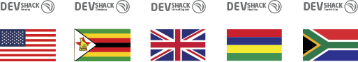 DevShack International has offices in USA, Zimbabwe, UK, Mauritius and RSA